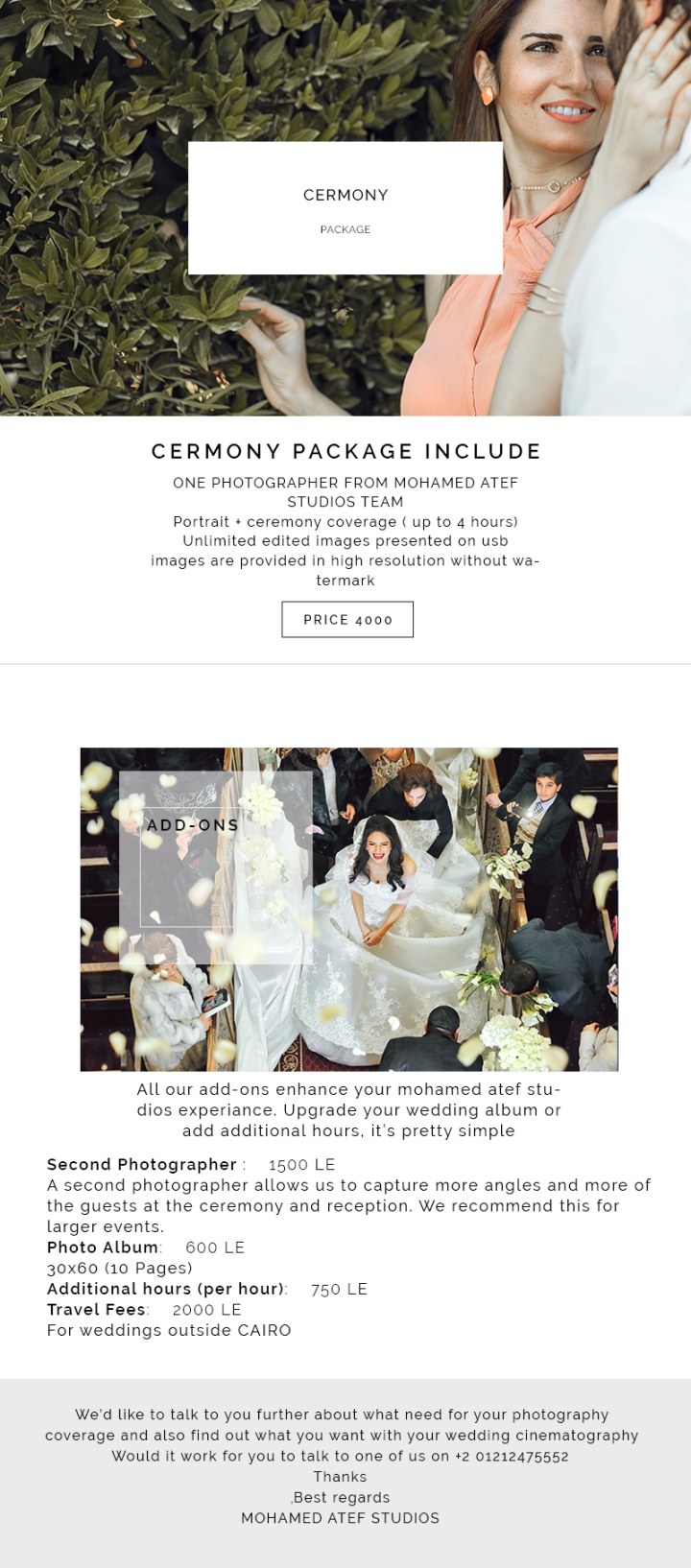 CERMONY PACKAGE